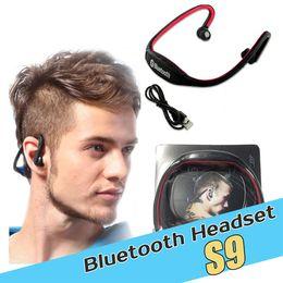 S9 mini Wireless bluetooth Headphones Headphone Headsets Sport Bluetooth Speaker Neckband Earphone Bluetooth 4.0 With Retail Package