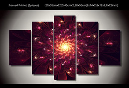 5 Panel Modern Abstract Art Flower Painting Home Decor Wall Art Pictures Print on Canvas Unframed Free Shipping