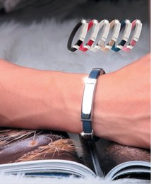Wholesale Christmas Gift Health Titanium power Ion Magnetic Bracelet silicone wristbands Ionic Energy Bands