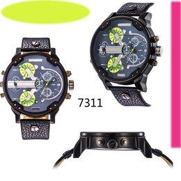 Wholesale Daddy watches Best Selling DZ Men s atmos Clock Leather Strap Watches Full Men Watch Steel Military Quartz dz Men s sports Wristwatch DZ7314