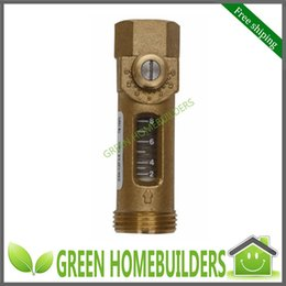 Wholesale Sample G3 quot Mechanical Brass Flow Meter Balancing Valve with Flow Rate L