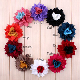 Vintage Multicolor Flowers Fit DIY KIDS Headband Hairclips Shoes Brooch Ornament Baby Girl Clothing Hair Accessories