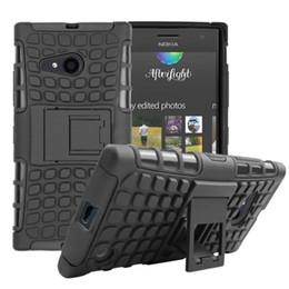 Wholesale Híbrido resistente de doble capa robusto robusto TPU PC resistente a la intemperie duro caso cubrir para NOKIA Lumia