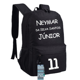 Gift! Neymar backpacks barce souvenir kids neymar backpacks shcool bags for teenage boys girls high school bookpack