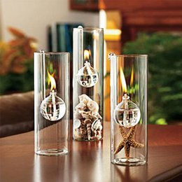 Wholesale Creative transparent glass cylinder hook lamp marriage instead of a candle