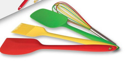 Wholesale Silicone kitchen cooking set Pastry Brush spatula shovel Spoon Whisk