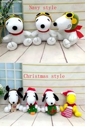 Wholesale New Cartoon Peanuts plush toys Snoopy Stuffed Animals doll cm Children best Christmas gift C124