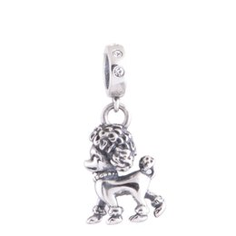 Wholesale GW Poodle Charms dangles made from sterling silver fit pandora style bracelets or necklace for women pendant No70 lw S045