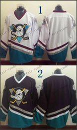 Wholesale Anaheim Ducks Mighty Ducks Blank CCM Throwback Vintage Jersey Cheap ICE Hockey Jerseys Heritage Stitched Size