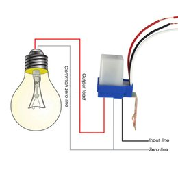 Wholesale Auto On Off Street Light Control Switch Photoswitch Sensor Automatic Photo electric Photocell DC AC V Hz A AS