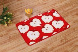 Wholesale 10pcs area rug floor carpet Printing nylon carpet mats fruit entry door mat slip bath mat Small Affiliate