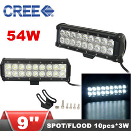 Wholesale 9 inch W CREE LED light bars Spot Flood Combo Light Car LED Working Light for Offroad Truck SUV Tractor WD Boat