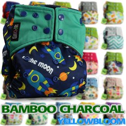 Wholesale Bamboo charcoal Baby Diapers Washable Cloth Nappy Diaper Baby Washable Pocket Nappy Cloth Reusable Diaper Bamboo Charcoal Cover Wrap Nappy
