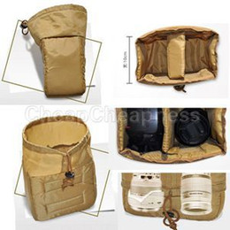 New 2014 Design Khaki Color Digital SLR DSLR Camera Bags For Sale Portable Bags For Camera With Low Price