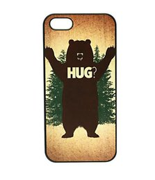 Wholesale Black Bear HUG Style Hard Plastic Mobile Phone Case Cover For iPhone 4 4S 5 5S 5C