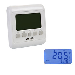 Wholesale 16A LCD Digital Heating Thermostat Room Temperature Controller Weekly Programmable Display Warm Floor Heating BI010