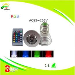 El punto al por mayor LED de la lámpara de la alta tecnología LED del color del reflector GU10 E27 // E14 / MR16 16 de 3W RGB LED teledirigido libera el envío coloured spotlights on sale desde focos de colores proveedores