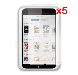 Wholesale Retail Package Clear LCD Screen Protector Films Protective Film Guards for B amp N Barnes amp Noble Nook HD HD7