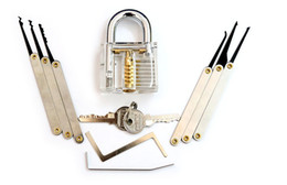 Wholesale Hot Sale Affordable Rates New Produck Arrived Transparent Padlock Lock Extractor Tools Locksmith Necessary A SET