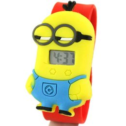 Wholesale-HOT children's watches Watch for Girls Despicable Me minion Cartoon watch for Girls Digital clock