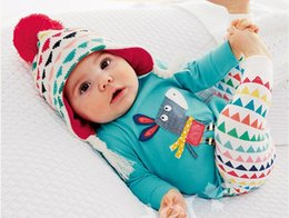 Autumn New baby girl clothes baby rompers donkey flowers long-sleeved models fall T-shirt+Leggings Newborn baby clothing hight quality free