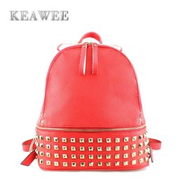 Fashion Rivet Backpack Campus Style Women Leather Backpacks Girls School Backpacks Ladies Shoulder Bags Lovely Backpack bolsas