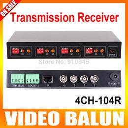 Vidéotransmission en Ligne-Récepteur actif à paires torsadées à 4 voies Distance de transmission 1200m Balun vidéo CCTV couleur