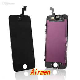 Iphone 4s conjunto completo en Línea-10 PC / porción Grado A Pantalla LCD Digitalizador calidad con el panel de la pantalla táctil y el marco de la asamblea del reemplazo del sistema completo para el iPhone 4 4G 4S 5 5C 5S