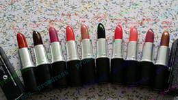 Wholesale 20pcs Best quality MATTE LUSTRE SATIN GLAZE RETRO MATTE lipstick g with english name color