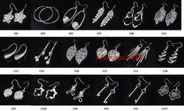 Wholesale Fashion Jewelry Manufacturer mixed a earrings sterling silver jewelry factory price Fashion Shine Earrings Hot Best gift