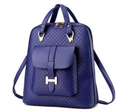 Wholesale 2015 new fashion Designers girl women s PU leather backpack school bag shoulder bag travel bag Student Schoolbag Computer bag