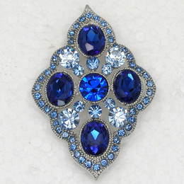 Wholesale Sapphire Crystal Rhinestone Wedding party prom brooches Fashion Apparel Flower Pin Brooch C801 B