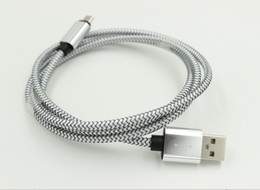 Braided USB Charger Cable Metal Micro Data Charging Cord 1m Colorful Cord Wire for Samsung HTC Blackberry 200pcs Free Shipping