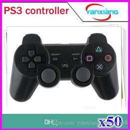 Vibración Joystick sin hilos del juego de Bluetooth para el regulador sin hilos PS3 50 PC ZY-PS-01 desde pc joystick fabricantes