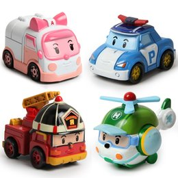 Wholesale In Stock Robocar Poli Toy Robot Car Transformation Toys New Toy Best Gift for little Girl Boy South Korea Thomas toys