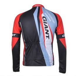 Wholesale-2015 GIANT Cycling Jersey Long Sleeve Jersey | Bicycle Jersey Cycling Clothing 100% Polyester Full Zip Size:XS-4XL Free Shipping