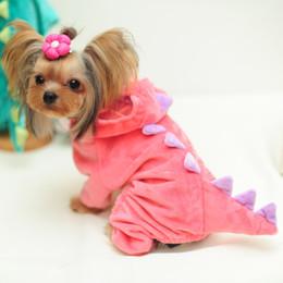 Купить Онлайн Большие костюмы для собак-Новый год Горячие продажи All Seasons Puppy / Большая собака породы домашних животных Динозавр Костюм зеленый / розовый пальто Jumper Одежда Одежда