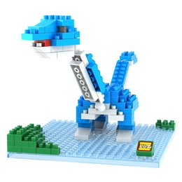 Wholesale Jurassic Park Dinosaur Brontosaurus Animal model plastic D Diamonds building block brick boys kids educational toy LOZ9488 Best Gift