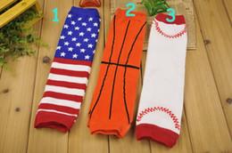 Children Leg Warmers blue red star baseball Print Legging kids socks adult arm warmer boys gift 12Pair lot