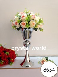 10pcs lot European romantic metal sliver 789 wedding centerpiece decoration vases wedding pop