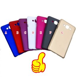 Lumia cubierta dura recubierta de goma en Línea-Caso de aceite de goma helada mate dura de la PC para HTC UNO A9 Samsung Galaxy ON7 Nokia Lumia 950 XL 950XL parte posterior del plástico del teléfono celular de la piel cubierta
