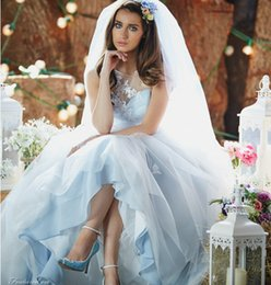 Wholesale Bateau Wedding Dresses Amanda Wyatt Wedding Gowns Plus Sizes Applique Tulle Hollow Covered Button Exquisite
