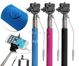 Wholesale Monopod Handheld Telescopic Selfie Stick Z07 plus Tripod Cable Monopod With Holder for iPhone Android phone without groove DHL FREE