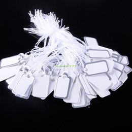 Wholesale ES4230 Jewellery Display White Tie On Shop Pack Labels Price Tickets Price Tags