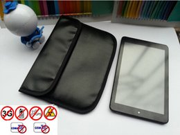 Wholesale New Black PU leather Anti radiation Anti Signal RFID information security package case bag for ipad mini Cell Phone