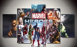 Wholesale Framed Printed marvel heroes game Group Painting children s room decor print poster picture canvas F