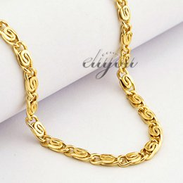 Yellow Rose Gold Filled Necklace Mens Womens Chain Snail Link Wholesale Fashion Jewelry Gift 4.5mm LGN216
