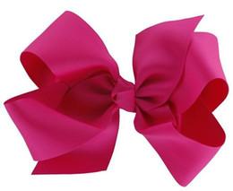 """Wholesale 100pcs 5.5"""" Boutique Hair Bows Girls Baby Alligator Clip Grosgrain Ribbon,36color choose"""