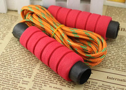 Wholesale Skipping jump ropes foam handle Speed Gym Training Sports excercise fitness sports chlidren adults Fitness Supplies xmas gift drop shipping