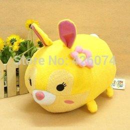 Wholesale New Original Tsum Tsum Bambi Miss Bunny Plush Toys For Girls Boys Stuffed Cartoon Pillow Kids Cushion Children Gifts